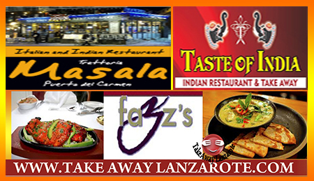 Indian Takeaways Puerto del Carmen, Takeaway Lanzarote