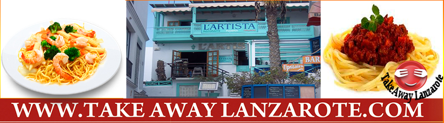 Pizza Takeaway Pizzeria L Artista Italian Restaurants Takeaway Playa Blanca, Lanzarote, food Delivery Lanzarote, Yaiza
