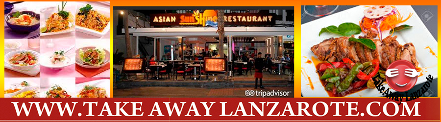 Asian Sunshine Takeaway Puerto del Carmen, Food delivery Lanzarote, Lanzarote, food Delivery Lanzarote
