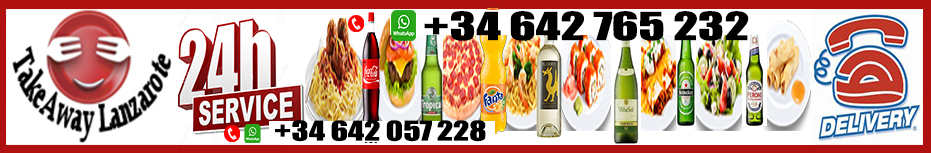 Food Delivery Lanzarote - Drinks Delivery Lanzarote 24 hours - Alcohol Delivery Lanzarote - Dial a Drink Lanzarote - Dial a Booze Lanzarote